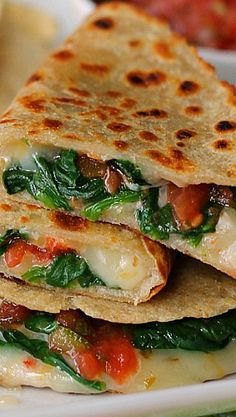 Spicy Spinach Quesad