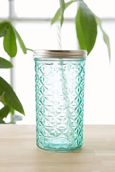 Faceted Glass To-Go Jar - Urban Outfitters