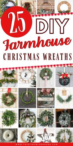 Get your front door holiday ready with one of the Farmhouse Christmas Wreath DIYs. Cheap and easy to make these wreaths make a stunning addition to your modern farmhouse home. Burlap Christmas, Farmhouse Christmas Decor, Retro Christmas, Christmas Holidays, Christmas Wreaths, Christmas Door, Christmas Design, Christmas Stuff, Christmas Christmas