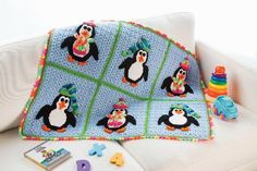 Playful Penguins Blanket