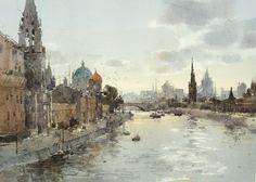 【莫斯科河 / Moscow river 】18 x 26 cm . watercolor by Chien Chung Wei