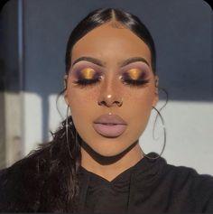images about Makeup 101 💯🔥🔥💧💧 on We Heart It Eye Makeup, Glam Makeup Look, Makeup Eye Looks, Makeup 101, Black Girl Makeup, Dark Skin Makeup, Flawless Makeup, Girls Makeup, Gorgeous Makeup