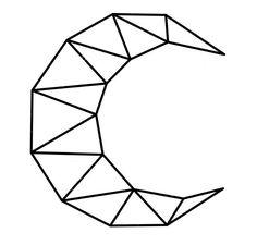 Geometric Shapes Art, Geometric Drawing, Art Drawings Sketches, Easy Drawings, 3d Zeichenstift, String Art Templates, Polygon Art, Shape Art, Wall Art Designs