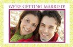 We're Getting Married - Engagement Announcement Card #Ideas