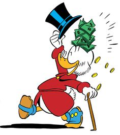 Image discovered by Find images and videos about photography, disney and money on We Heart It - the app to get lost in what you love. Disney Pop Art, Disney Duck, Disney Magic, Disney Mickey, Images Disney, Walt Disney Pictures, Dagobert Duck, Pixar, Uncle Scrooge