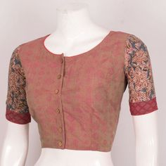 Buy online Hand Block Printed Cotton Blouse With Kalamkari Sleeve 10030511 - Size 38 Blouse Neck Designs, Blouse Patterns, Blouse Online, Indian Designer Wear, Cotton Blouses, Printed Cotton, Dressing Table, Sleeves, Sweaters