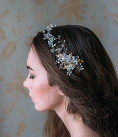 Bridal Hair Vine, Bridal Hair Pin, Bridal Headpiece, Bridal Hair Piece, Bridal Wreath  32-35cm a long   ~ All of my beautiful bridal accessories are hand-made by me which means that every creation is as unique as the bride who wears it.  ~ THIS PRODUCT IS READY TO SHIP. The product