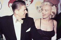 Marilyn shares a joke with Ronald Reagan