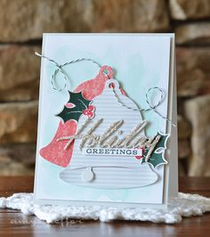 Holiday Greetings Card by Amy Sheffer for Papertrey Ink (September 2015)