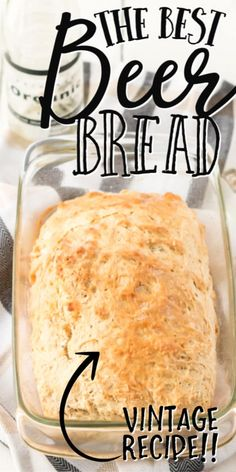 Beer bread recipe is super easy to make compared to any other bread recipe. You'll have people fooled thinking you've spent hours kneading dough to make this beer bread recipe from scratch. Bread Maker Recipes, Quick Bread Recipes, Cooking Recipes, Beer Bread Recipe Bread Machine, Beer Recipes, Cheesy Bread Recipe, Easy Bread Loaf Recipe, Bread Dough Recipe, Dip For Beer Bread