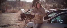 You couldn't tell it by this photo, but this was a blistering cold day in Boudreaux's junkyard. Once he meets Kai, Boudreaux focuses his attention on crystal in its raw state and shaping it for Kai. #Tinker #TinkertheMovie starring Christian Kane Clayne Crawford #indiewire #independantfilm #KoCreo #Kaniacs #yearofKane