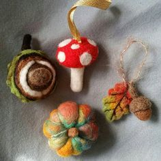 Check out this item in my Etsy shop https://www.etsy.com/uk/listing/541475928/needle-felt-autumn-decorations-ornaments