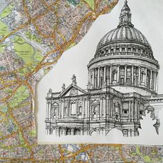St. Paul's cathedral. #art #drawing #pen #sketch #illustration #linedrawing #stpauls #stpaulscathedral #cathedral #london #architecture