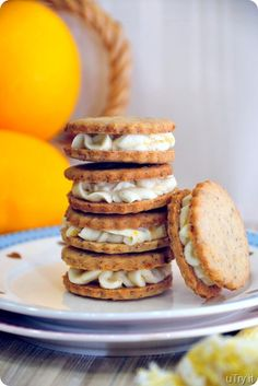 meyer lemon sandwich cookie