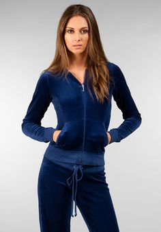 Shop Women's Juicy Couture Blue size S Jackets & Coats at a discounted price at Poshmark. Description: Juicy Couture blue/navy velour zip up hoodie. Velvet Tracksuit, Fashion Beauty, Fashion Tips, Fashion Trends, Velour Jackets, Velour Fabric, Dressed To Kill, Revolve Clothing, Zip Hoodie