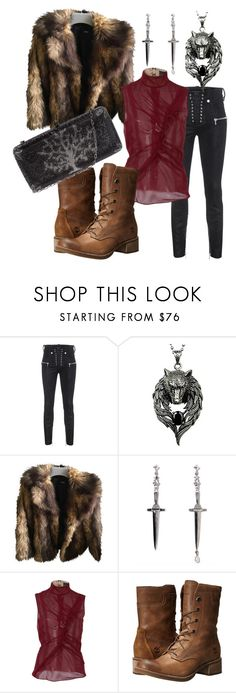 """""""Winterfell"""" by rebeccalynn829 ❤ liked on Polyvore featuring Unravel, ASOS, Pamela Love, J. Mendel, Timberland, Sylvia Toledano, GameOfThrones and Winterfell"""