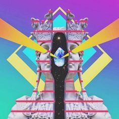 La psicodelia y la mujer en el collage de Justin Mays.