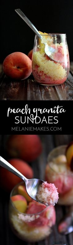 These Peach Granita
