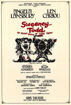 Sweeney Todd by Stephen Sondheim.  My husband gives me a hard time for liking this so much (he thinks I'm sick) but I absolutely love it.  ... Definitely love it on the stage more than the movie, even though Johnny Depp is pretty hot (even if he's slitting people's throats)!