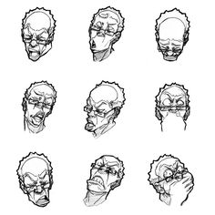 """Tom and Granddad"" expression notes by Seung Eun Kim"