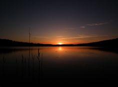 Sonnenuntergang am Gilwa-See
