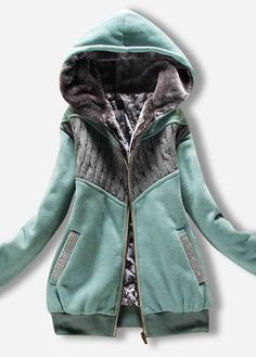 super comfy hoodie jacket in mint green