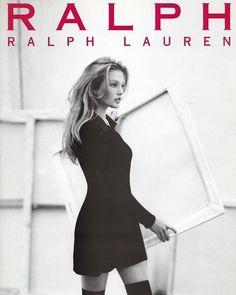 "supermodelgif: "" Bridget Hall for Ralph Lauren "" 90s Fashion, Runway Fashion, Fashion Models, High Fashion, Vintage Fashion, Womens Fashion, Moda 80s, 90s Models, Ralph Lauren Style"