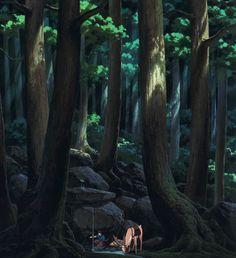 Ashitaka | Princess Mononoke | Miyazaki | Studio Ghibli | (gif)