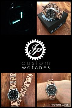 JPC45 custom automatic watch with Seiko 7s26 Movement. Help for heroes charity watch. Military inspired.
