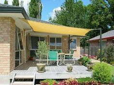 Canvas sun shade awning easy inexpensive too