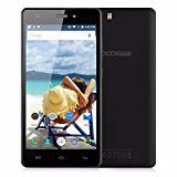 DOOGEE X5 5.0 inch Android 5.1 Cell Phone RAM 1GB+ROM 8GB 3G Smart Phone MT6580 Quad Core 1.3GHz Unlocked Cell Phone GSM & WCDMA Dual SIM Mobile Phone (Black)