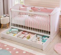 Patut din pal cu sertar, pentru bebe Selena Baby White, 140 x 70 cm Kids Bed Frames, Childrens Beds, Drawer Unit, Cot Bedding, Bedside Cabinet, Baby Grows, Kid Beds, Cribs, Toddler Bed