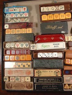Antique Poker Dice
