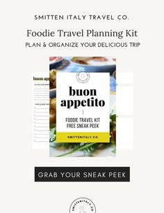 If you #traveltoeat like we do, then you'll love our new Foodie Travel Planning Kit, a digital kit for planning your delicious adventures in Italy & beyond. Click through to get a free sneak peek of 2 of the pages in this new travel kit, and get notified when the entire kit is available! #foodtravel #italytravel #europetravel #travelplanner #vacationplanner Travel Tags, New Travel, Work Travel, Italy Travel Tips, Top Travel Destinations, Vacation Planner, Travel Planner, Travel Gadgets, Best Places To Eat