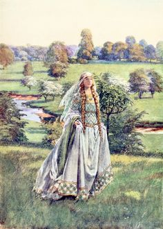 "Guinevere. From ""Eleanor Fortescue Brickdale's Golden Book of Famous Women"" (1919)"