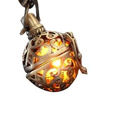 Steampunk FIRE necklace - pendant charm locket jewelry- GREAT GIFT