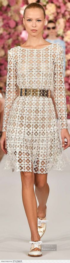 sheer white perforated dress #UNIQUE_WOMENS_FASHION
