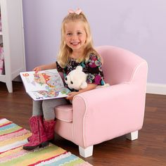 little girl chairs distressed black metal dining 65 best cute stuff images baby toys boy toddler treat your to her very own pink laguna chair with piping this soft