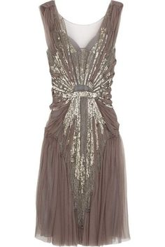 Great Gatsby Themed Party - Dwell Beautiful : Alberta Ferretti dark purple tulle sleeveless sequin and bead embellished scoop neck dress Pretty Outfits, Pretty Dresses, Beautiful Dresses, Gorgeous Dress, Gorgeous Gorgeous, Dresses Dresses, Short Dresses, Sparkly Dresses, Sparkly Heels