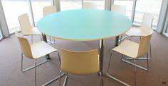Spaceistdiscroundwhitemeetingtables Muebles Diseño - Large round meeting table
