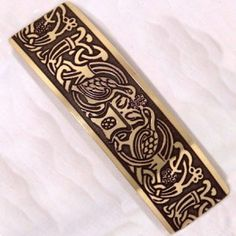 Irish handcrafted Tree of Life Celtic hairslide.  Celtic Tree of Life barrette handmade in Ireland by Aqua Fortress.  A Celtic power symbol, a spiritual symbol, whilst also a symbol of life sustenance.  Suitable Irish gift for ladies, handmade in Beara, West Cork.  Highly polished handcrafted Celtic hairclip, the dark contrasting hue of the etched Celtic design compliments the craft. Spiritual Symbols, Celtic Symbols, West Cork, Celtic Tree Of Life, Life Symbol, Celtic Designs, Life Design, Gifts For Women, Irish