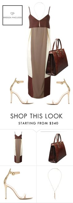 """summer color brown"" by brendamacleod ❤ liked on Polyvore featuring DuÅ¡an, Gianvito Rossi and Jacquie Aiche"