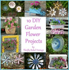10 DIY garden flower projects to decorate your yard and gardens.