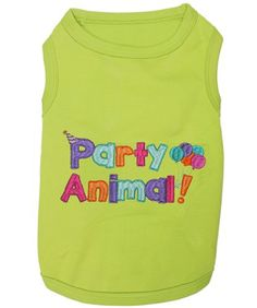 Pet Clothes PARTY ANIMAL Dog T-Shirt *** Awesome dog product. Click the image : Dog shirts