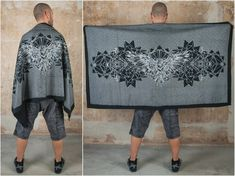 Cyber Goth Silver Crow Blanket and Shawl. The perfect Goth Decor Picnic Blanket and Scarf for Sith Raven Cosplay with amazing Crow Print Our Crow Blanket Scarf if its getting cold again in the outdoor festival season ;) Perfect as accessory to create a look like Assassins Fashion , Dark Mori or Steampunk Skirt, Steampunk Clothing, Jedi Outfit, Raven Cosplay, Pixie Outfit, Dystopian Fashion, Cyberpunk Clothes, Blanket Shawl, Fairy Clothes
