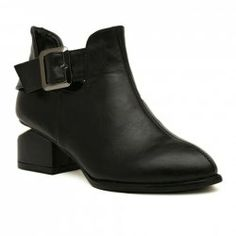 Stylish Women's Ankle Boots With Black and Buckle Design (BLACK,39) China Wholesale - Sammydress.com