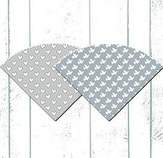 Baby Blue and Grey Printable Favor Cones