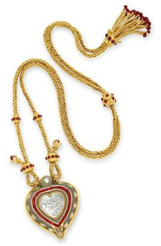 The Taj Mahal, ruby-and-gold chain by Cartier, 1972, gift from Richard Burton  It was a helluva romantic 40th-birthday gift—a heart-shaped diamond from the 17th century, once given by Shah Jahan to his wife, Mumtaz-i-Mahal, later the inspiration for India's Taj Mahal.