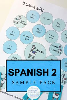 Spanish 2 is such a fun subject to teach for high school teachers because you get to further students' mastery of the Spanish language. To hook students on this foreign language and engage them in the lessons, a variety of activities is often necessary. This Spanish 2 Activity Sample Pack is a bundle of 10 resources created for intermediate secondary Spanish classes. There are review games, Spanish grammar practice, Spanish speaking activities, and more. Click through to get more… Spanish Activities, Hands On Activities, Writing Activities, Learning Spanish, Study Spanish, Spanish Lessons, How To Speak Spanish, Fun Learning Games, Class Games