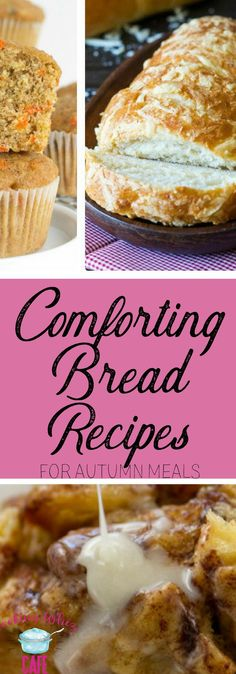 Walking into a home and smelling fresh made bread is just so comforting! There is nothing like it, especially in the autumn and winter! Here are several must try bread Recipes!